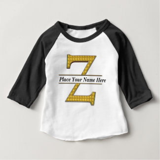 AにZのアルファベットの赤ん坊のAmericanTワイシャツ ベビーTシャツ