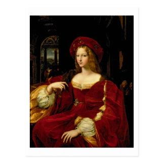 Aのアラゴン(c.1500-77)妻のJeanneのポートレート ポストカード