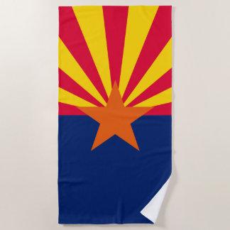 aのアリゾナの州の旗のデザイン ビーチタオル