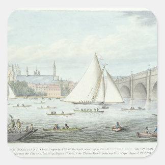 aのウエストミンスターそして橋の眺め、 スクエアシール