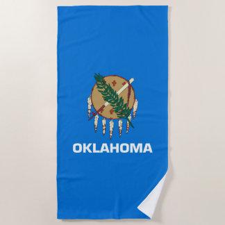 aのオクラホマの州の旗のデザイン ビーチタオル