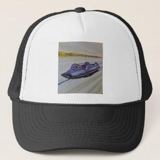 aのカードを遊ぶヴィンテージのレースカーのHatAのヴィンテージ キャップ