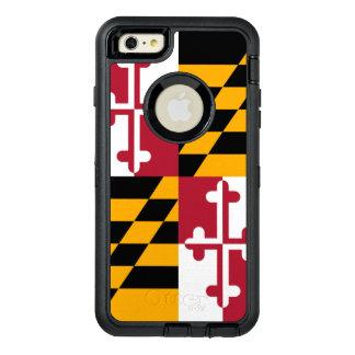 aの動的メリーランドの州の旗のグラフィック オッターボックスディフェンダーiPhoneケース
