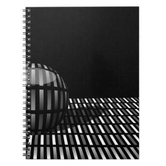 aの球とのとの灰色の長方形のパターン ノートブック