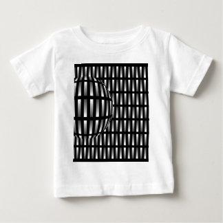 aの球とのとの灰色の長方形のパターン ベビーTシャツ