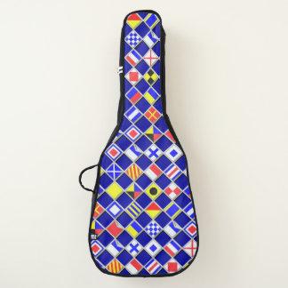 aの航海のなシグナルフラグのチェッカーの装飾 ギターケース