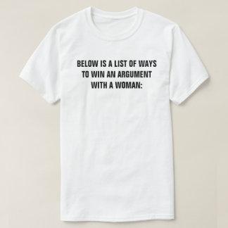 Aの議論に勝つ方法のリストは次あります Tシャツ