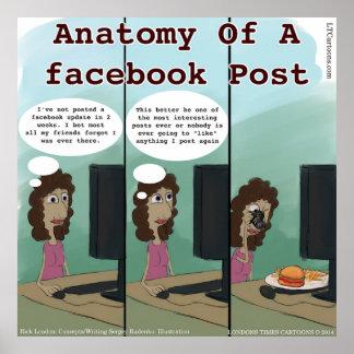 Aのfacebookのポストのおもしろいな解剖学 ポスター