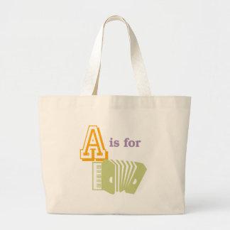 Aはアコーディオンのためです ラージトートバッグ
