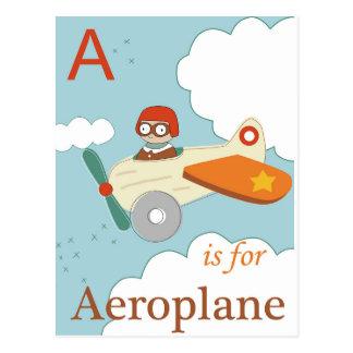 Aは飛行機のためです ポストカード