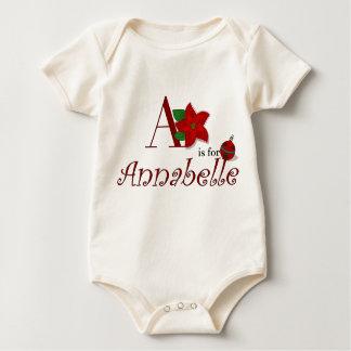 AはAnnabelleのベビーの初めてのクリスマスのTシャツのためです ベビーボディスーツ