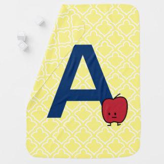 AはAppleのアルファベットabcの手紙の学ぶことのためです ベビー ブランケット
