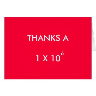A百万を-サンキューカード感謝していしています カード