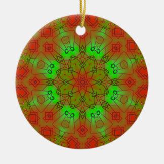 A001目まぐるしい曼荼羅の星破烈Ornament.1 セラミックオーナメント