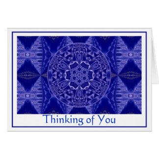 A001雪片Mandala.Blue.Customizable.Card 1 カード