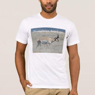 A0025若いPronghornのカモシカの木びき台 Tシャツ