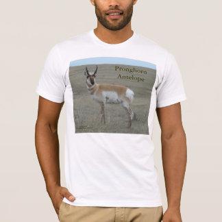 A0028 Pronghornのカモシカの木びき台 Tシャツ