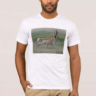 A0032 Pronghornのカモシカの木びき台 Tシャツ