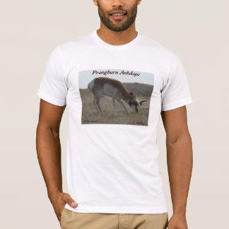 A0034 Pronghornのカモシカの木びき台 Tシャツ