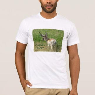 A0035 Pronghornのカモシカの木びき台 Tシャツ