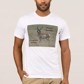 A0037 Pronghornのカモシカの木びき台 Tシャツ