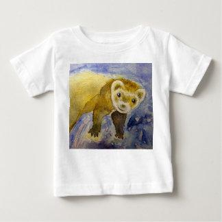 A01101フェレットのおもしろいのベビーのTシャツ ベビーTシャツ