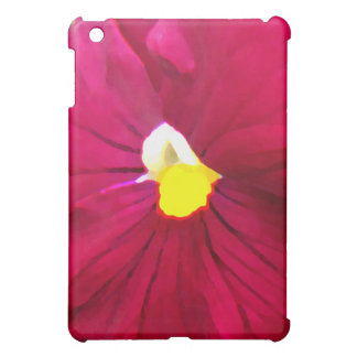 a2ピンクのラズベリーのパンジー iPad miniケース