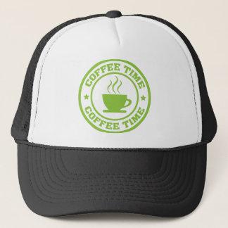 A251コーヒー時間円のライムグリーン キャップ