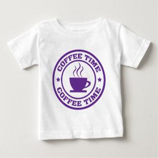 A251コーヒー時間円の紫色 ベビーTシャツ