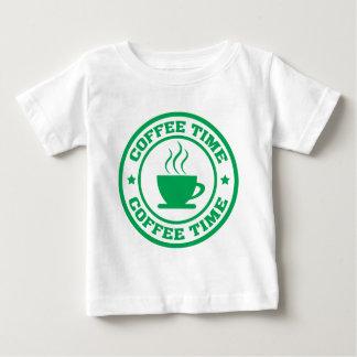 A251コーヒー時間円の緑 ベビーTシャツ