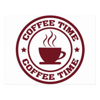 A251コーヒー時間円バーガンディ ポストカード