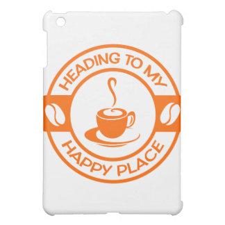 A257幸せな場所のコーヒーオレンジ iPad MINIケース
