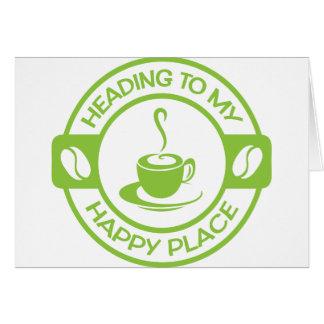A257幸せな場所のコーヒーライムグリーン カード