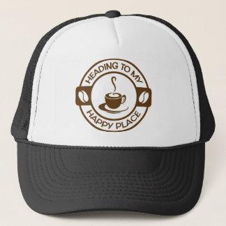 A257幸せな場所のコーヒー茶色 キャップ