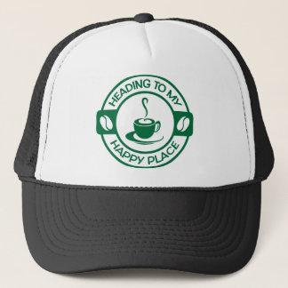 A257深緑色幸せな場所のコーヒー キャップ