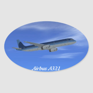 A321ジェット機の定期旅客機の航空機 楕円形シール