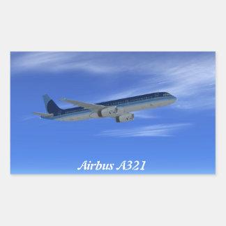 A321ジェット機の定期旅客機の航空機 長方形シール