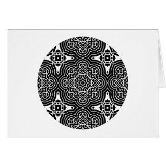 A48 -白いケルト族の目まぐるしい挨拶 カード