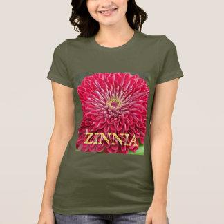 a5ショッキングピンクの《植物》百日草の破烈 tシャツ