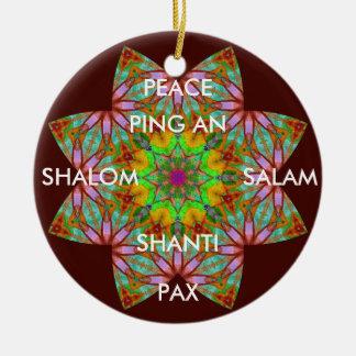 A62目まぐるしい平和Ornament.1 セラミックオーナメント