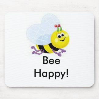 a67_cute_beeの幸せな蜂! マウスパッド
