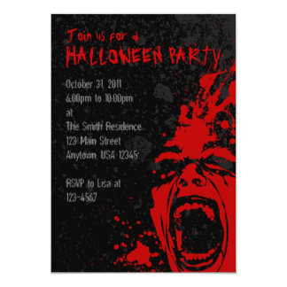 A7血の叫びのハロウィンの招待状 カード