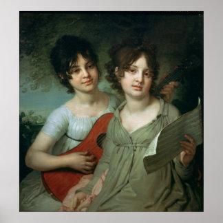A.およびV.ガガーリン1802年のポートレート ポスター