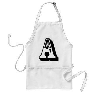 """""""A""""のアルファベットの手紙のティー スタンダードエプロン"""