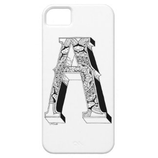 A -アルファベットN°1の中の曼荼羅N°1 iPhone SE/5/5s ケース