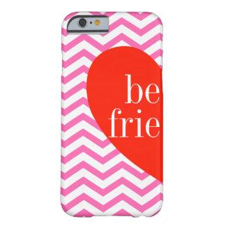A) 場合に一致させているシェブロンのピンクの親友 BARELY THERE iPhone 6 ケース