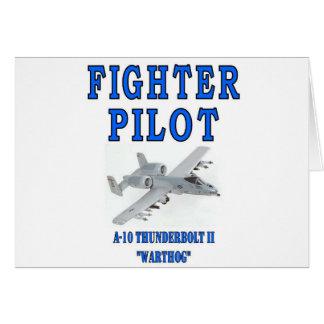 A-10落雷IIのwarthog グリーティングカード