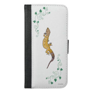 A Beautiful Gecko iPhone 6/6s Plus ウォレットケース