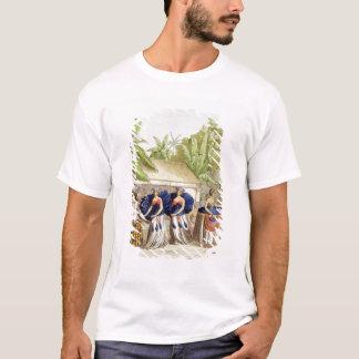 A. Bernati著刻まれるポリネシアのダンサー( Tシャツ