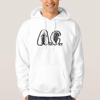 A.C. -ロゴのフード付きスウェットシャツ パーカ